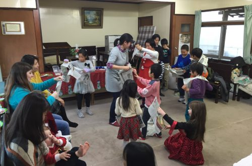 A Christmas party for local children at the church building